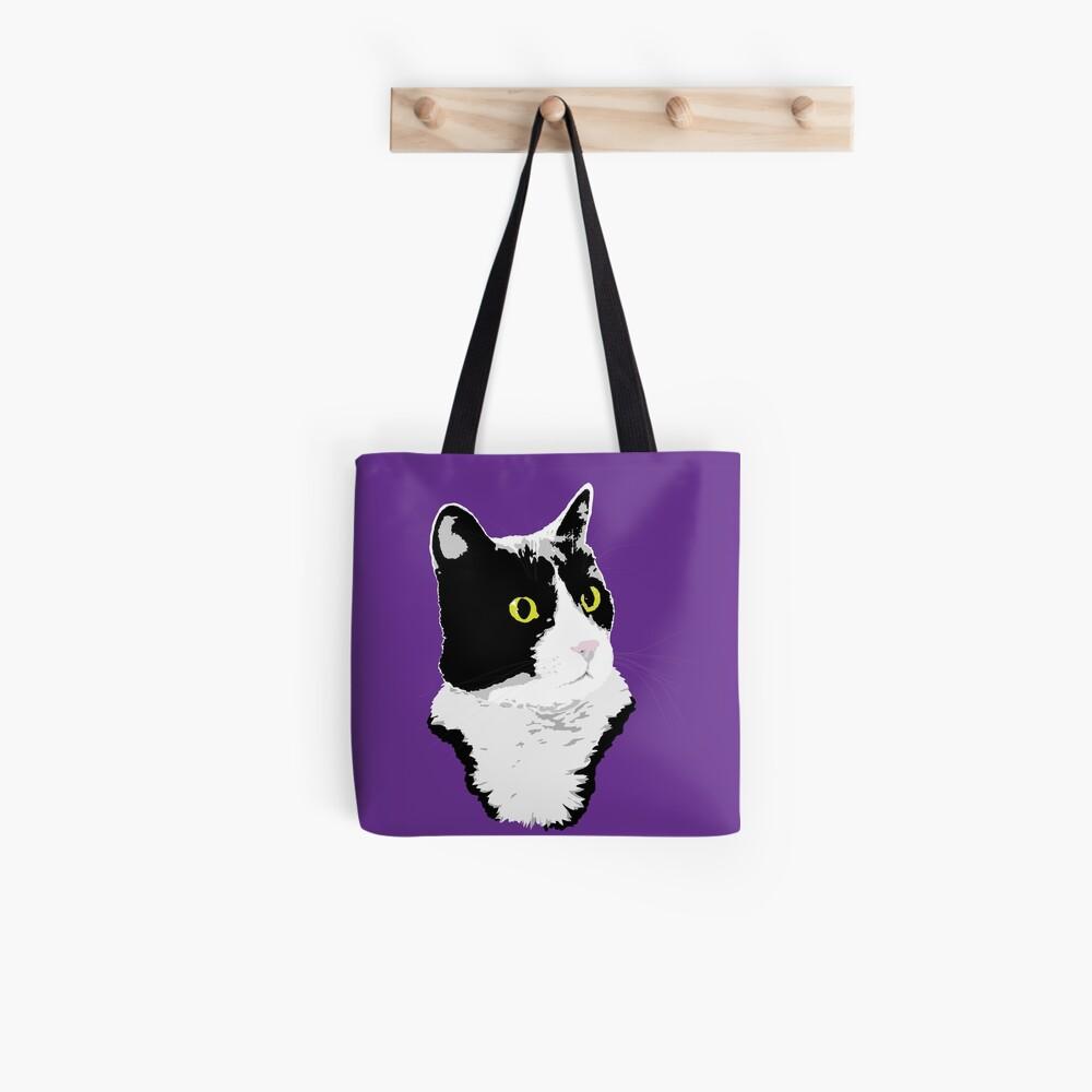 Regal Tuxedo Kitty Tote Bag