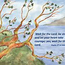 Hope & Courage- Psalm 27:14 by Diane Hall