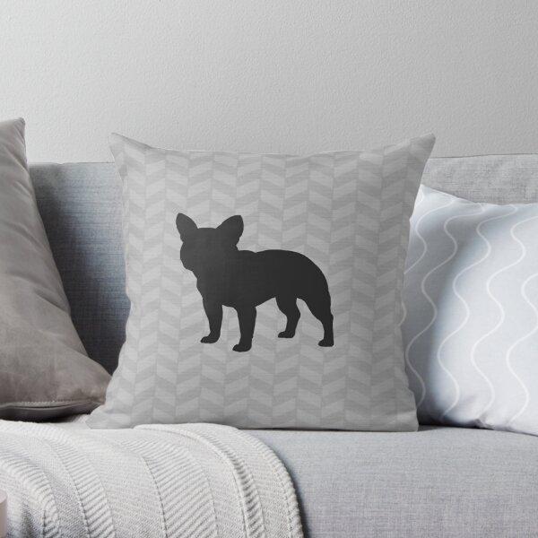 French Bulldog Silhouette(s) Throw Pillow