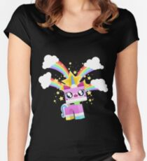 Princess Unikitty YAY! Women's Fitted Scoop T-Shirt