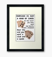 Hearts, Diamonds, Spades and Clubs Framed Print