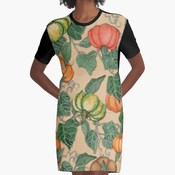 In the Pumpkin Patch Graphic T-Shirt Dress