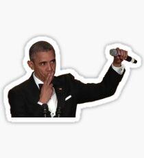 Pegatina Barack Obama Mic Drop
