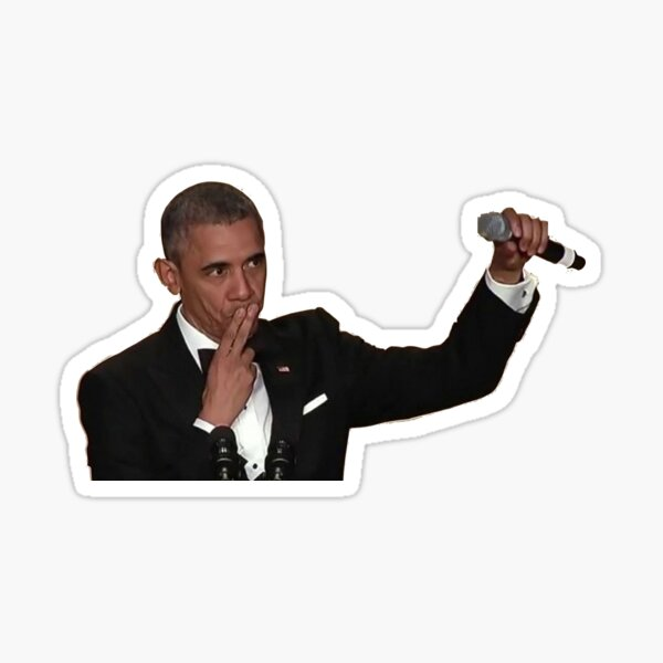 Barack Obama Mic Drop Sticker