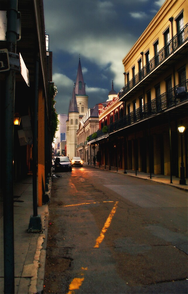 Looking Down the Street by David W Kirk
