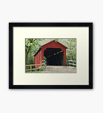 Sandy Creek Covered Bridge in Summer Framed Print