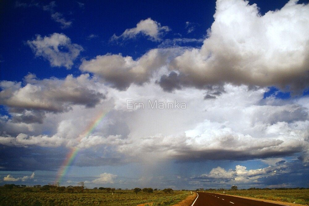 Rainbow chasing, Woomera, S.A. by Ern Mainka