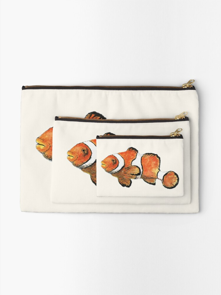 Alternate view of Clownfish Zipper Pouch
