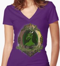 The Lusty Argonian Maid Women's Fitted V-Neck T-Shirt