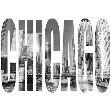 Chicago River Black and White Photo Logo by cutehuur