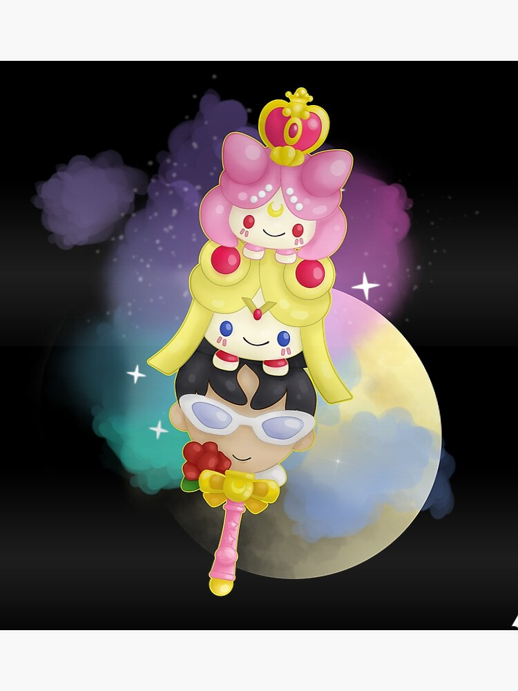 Sailor Moon: Chibiusa, Usagi, Tuxedo Mask Design 2 | Poster