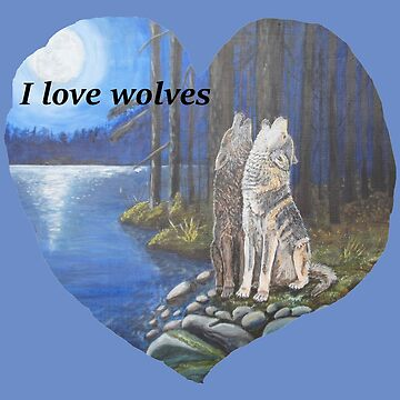 i love wolves by sandradamenart