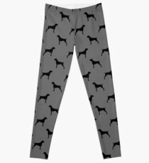 German Shorthaired Pointer Silhouette(s) Leggings
