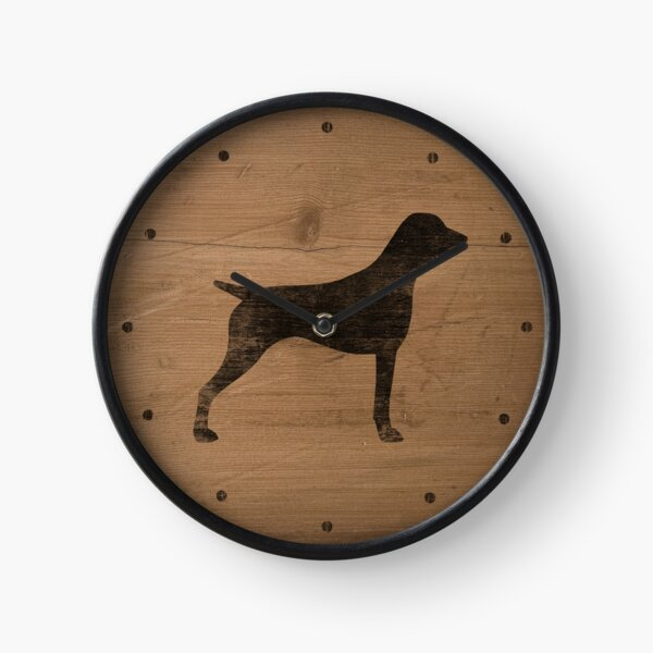 German Shorthaired Pointer Silhouette(s) Clock
