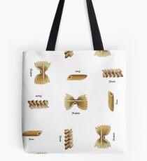 Pasta Shapes Tote Bag