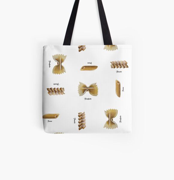 Pasta Shapes All Over Print Tote Bag