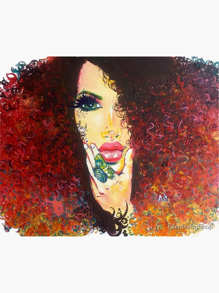 Curly Hair Girl Natural Hair Curls Autumn Hair by EllenDaisyShop