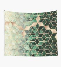Leaves And Cubes Wall Tapestry