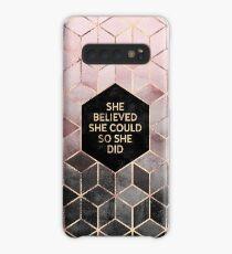 Funda/vinilo para Samsung Galaxy Ella creía que podía - Pink Grey