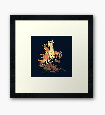 UNFINISHED RUIN Framed Print