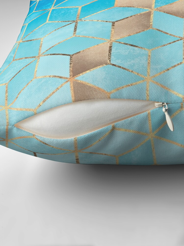 Alternate view of Sea And Sky Cubes Floor Pillow