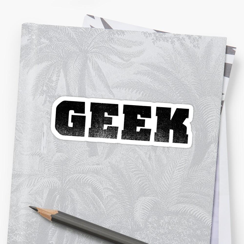 The word GEEK | A shirt that says GEEK - Black by RetroLogos