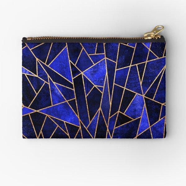 Shattered Sapphire Zipper Pouch