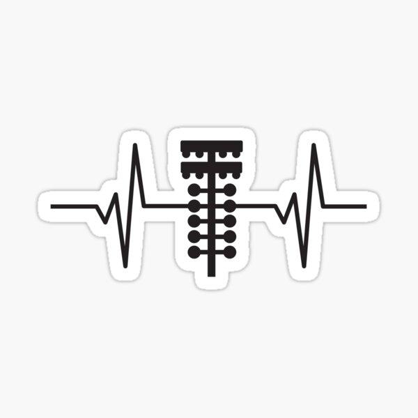 Herzschlag / Puls - Drag Racing Weihnachtsbaum Lichter Sticker