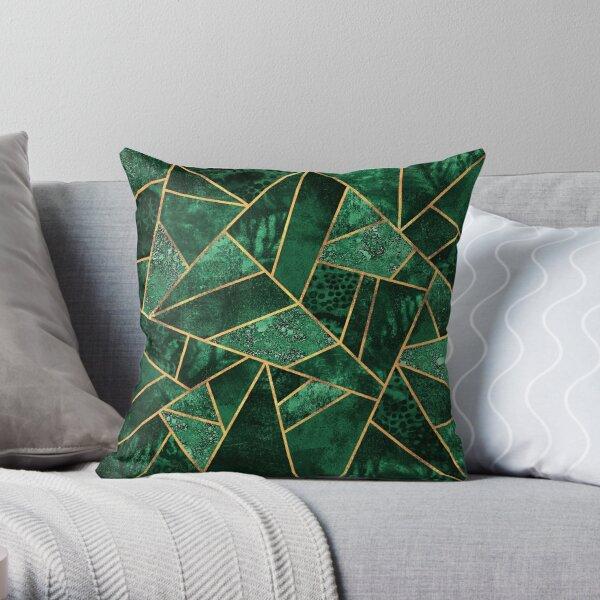 Deep Emerald Throw Pillow