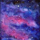 Watercolor Nebula Galaxy by Olga Shvartsur
