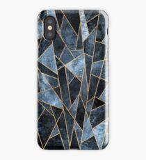 Shattered Soft Dark Blue iPhone Case/Skin