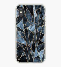 Shattered Soft Dark Blue iPhone Case