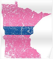 Thin Blue Line Minnesota Wives for Cops Poster