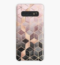 Pink And Grey Gradient Cubes Case/Skin for Samsung Galaxy
