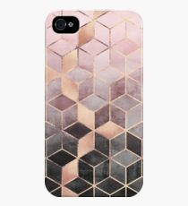 Pink And Grey Gradient Cubes iPhone 4s/4 Case