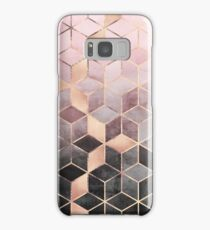 Pink And Grey Gradient Cubes Samsung Galaxy Case/Skin