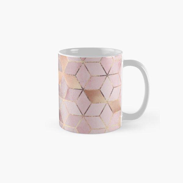 Cubes dégradés roses et gris Mug classique