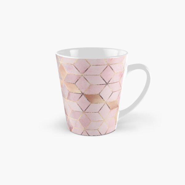 Pink And Grey Gradient Cubes Tall Mug