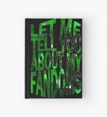 Cuaderno de tapa dura déjame contarte mis fandoms (verde)