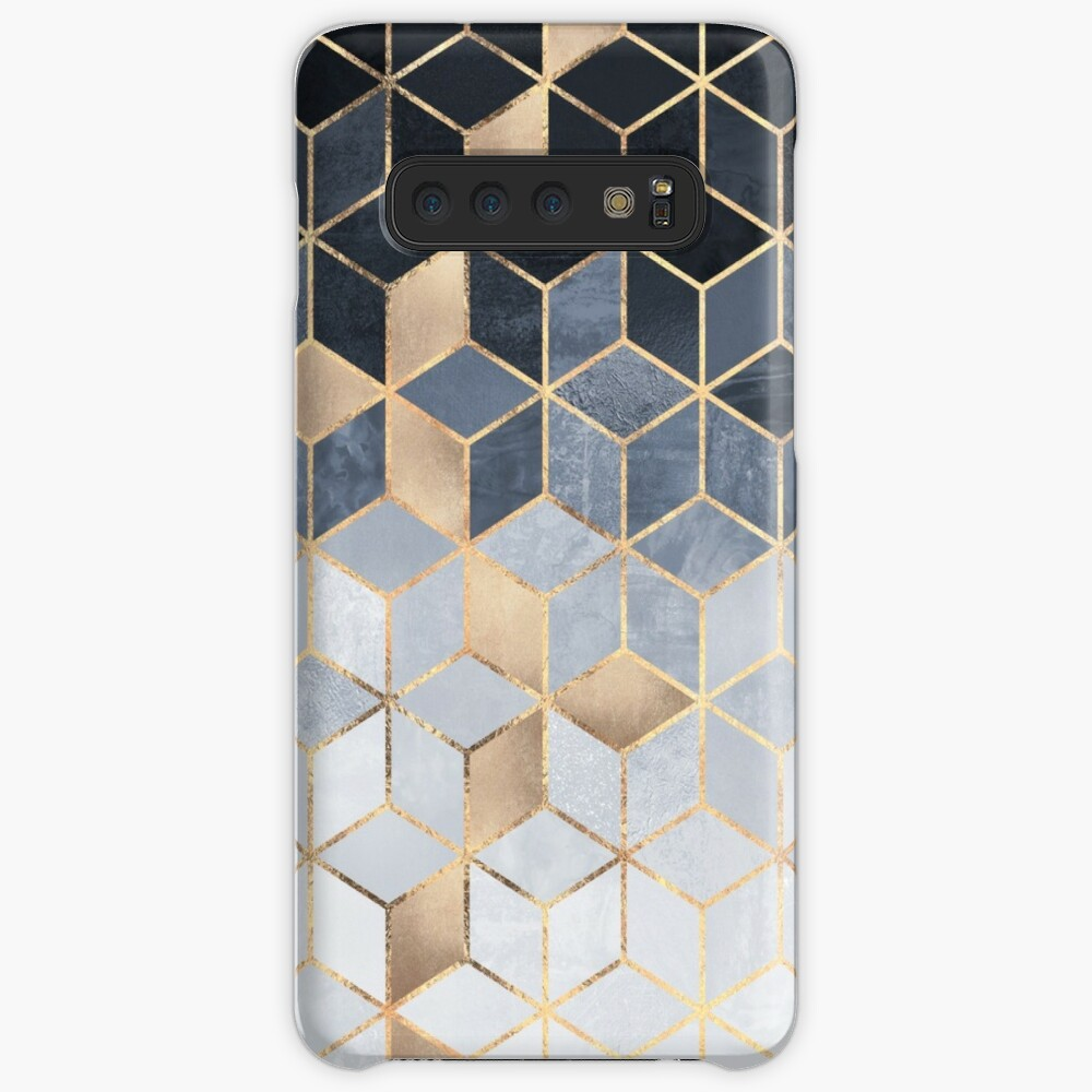Soft Blue Gradient Cubes Case & Skin for Samsung Galaxy