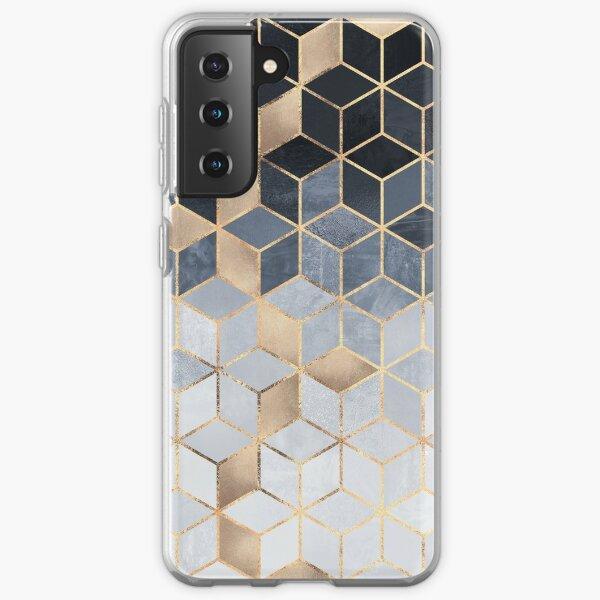 Soft Blue Gradient Cubes Samsung Galaxy Soft Case
