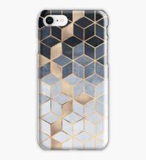 Soft Blue Gradient Cubes iPhone Case/Skin