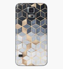 Soft Blue Gradient Cubes Case/Skin for Samsung Galaxy