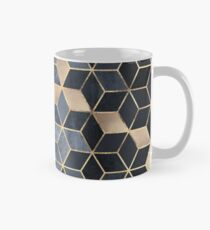 Soft Blue Gradient Cubes Mug