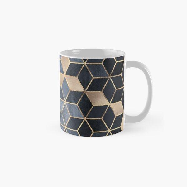 Soft Blue Gradient Cubes Classic Mug