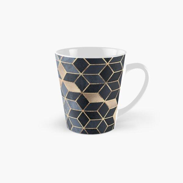 Soft Blue Gradient Cubes Tall Mug