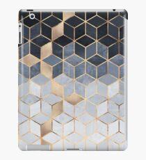 Soft Blue Gradient Cubes iPad Case/Skin