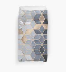 Cubes dégradés bleus mous Housse de couette