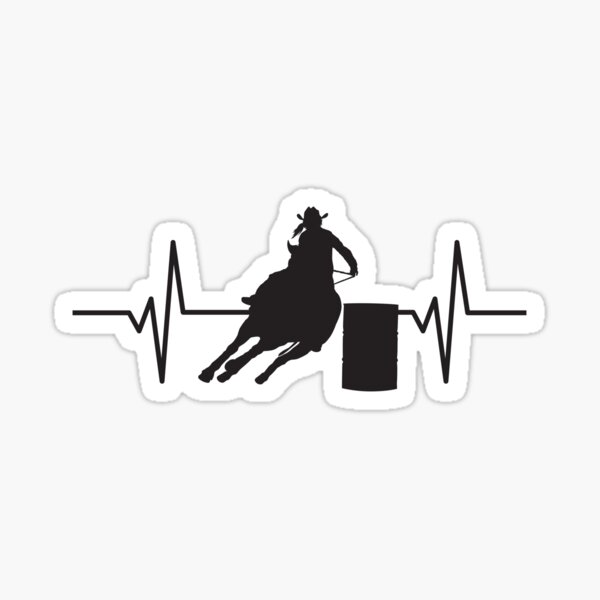 Rodeo Cowgirl Barrel Racer  Sticker