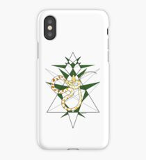 Sly Snake - Gold on green version iPhone Case